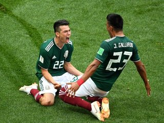 Mexico wins their second game in the World Cup
