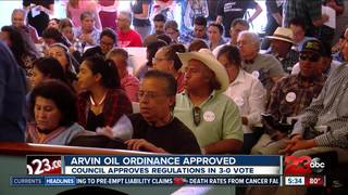 Arvin passes oil and gas restriction ordinances