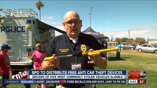 BPD to distribute free anti-car theft devices