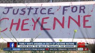 Justice walk for Cheyenne Sarah Watkins