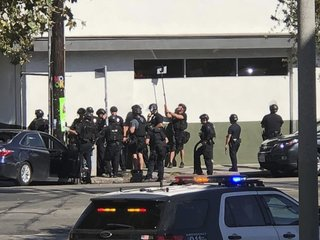 One killed in standoff at LA supermarket