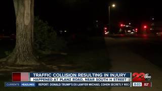 Crash at Planz Park splits car in half