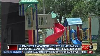 Homeless move to city parks