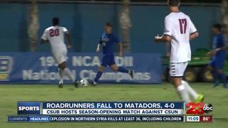 Roadrunners fall to Matadors, 0-4