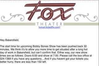 Bobby Bones show time pushed back for Friday