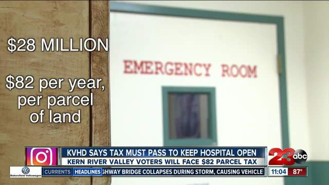 KVHD says parcel tax must pass to keep hospital open