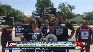 Protest held outside Congressman Valadao's home