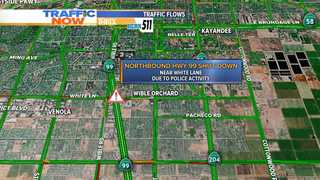 Police activity closes northbound 99
