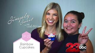 Learn to make rainbow unicorn cupcakes!