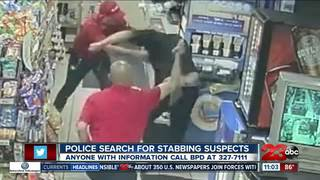 Police search for stabbing suspects