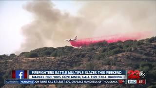 Firefighters battle multiple blazes this weekend
