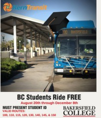 Free bus rides to Bakersfield College