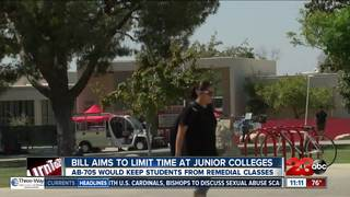 California bill to limit time at junior colleges