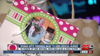 Woman hands out 'kindness bags' to NICU nurses