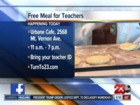 Urbane Cafe offering free meal for teachers