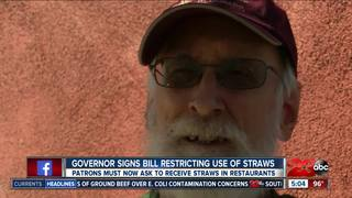 New law places restrictions on plastic straws