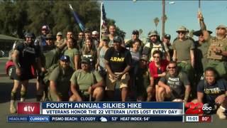 Veterans honor lives lost at Silkies Hike