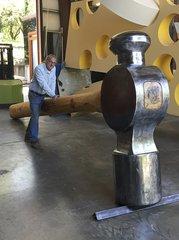 Giant hammer artwork stolen in Northern CA