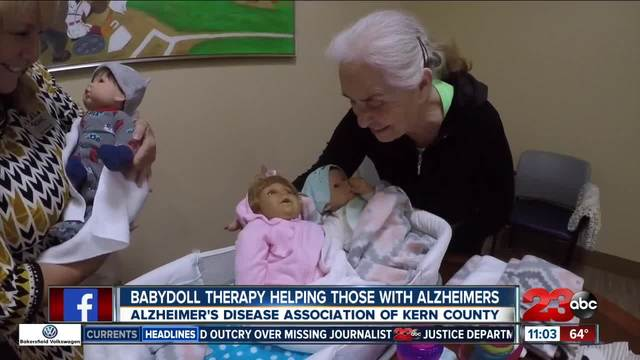 Babydoll therapy for those struggling with Alzheimers and Dementia