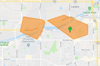 More than 2,500 without power in NW Bakersfield