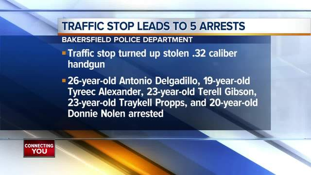 Traffic stop leads to several arrests in central Bakersfield