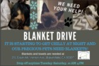 Blanket drive for animals at Animal Care Center