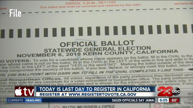 Last day to register to vote for 2018 midterms