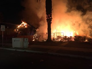 Crews battling house fire in Central Bakersfield
