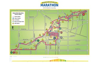 A look at the Bakersfield Marathon course route