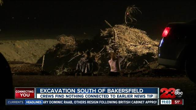 Excavation south of Bakersfield