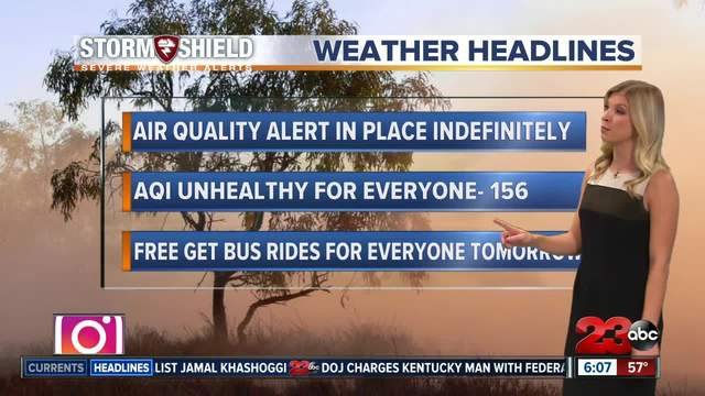 Free get bus rides on Saturday due to bad air quality