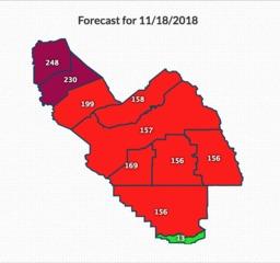 Valley Air: unhealthy air quality tomorrow