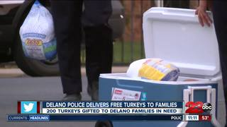 Delano Police delivers free turkeys to families
