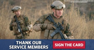 USO asking for signatures for card